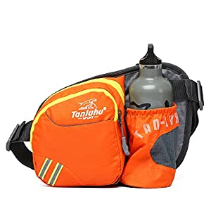 Outdoor Multifunction waist pack,Sports hikking,Camping travel water resistant running Fanny Bag with Bottle Holder