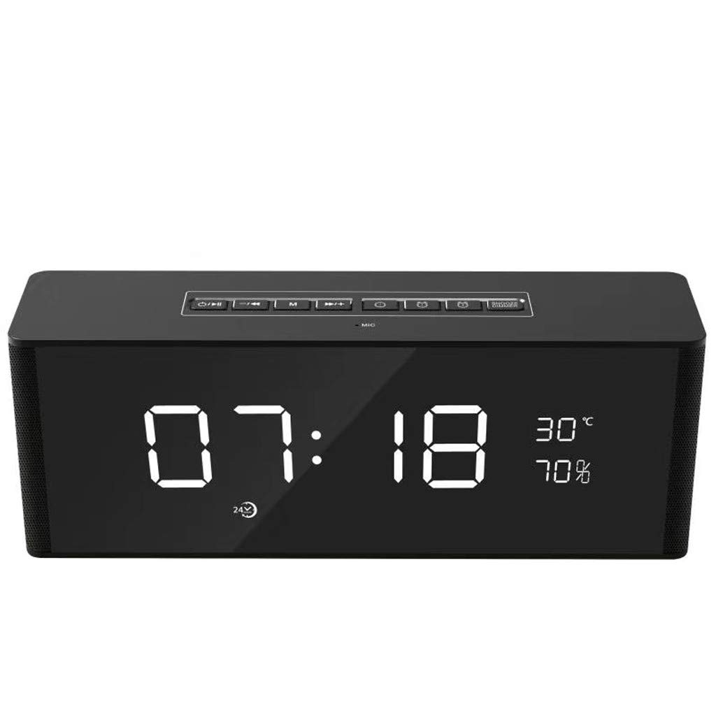 ❤SU&YU❤Clock Speaker Wireless Bluetooth Stereo Alarm Clock Portable Speaker LED Display