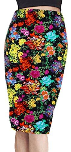 U-shot Vestidos Para Mujer Printed Cintura alta Falda Elasticidad Jersey Ajustado Falda de Tubo Vestido Estilo 9
