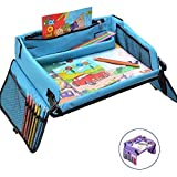 Kids Travel Tray – Activity, Snack, Play Tray & Organizer for Car Seat, Stroller Or Airplane Traveling – Keeps Children Entertained – Portable and Foldable + Free Bag & E-Book by KBT