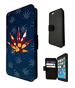 752 - Marijuana Leaf Cannabis Weed Rasta Jamaican Marley Style Design iphone 5 5s Fashion Trend TPU Leather Case Full Flip Credit Card TPU Leather Purse Pouch Defender Stand Cover