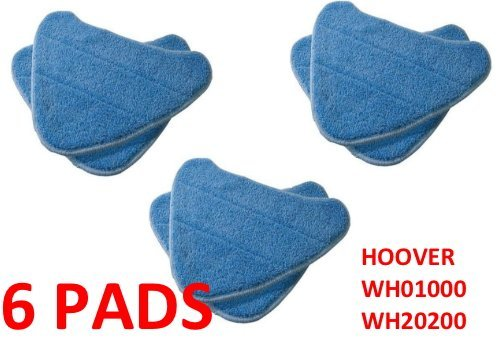 6 PACK Hoover Steam Mop Pads Compatible WH20200 Steam Mop # WH01000 by Hoover