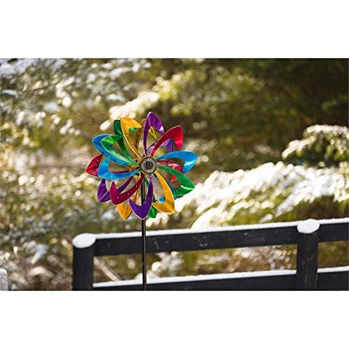 Evergreen Garden LED Flower 75 inch Metal Kinetic Solar Wind Spinner by Evergreen Garden (Image #2)