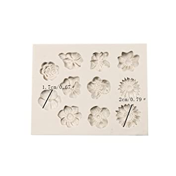 Daliuing Moldes de Silicona Molde de Pastel de Navidad La flor Diseño DIY Craft Molde Herramientas para Hornear y Cocinar Moldes Cocina: Amazon.es: Hogar