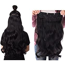 """Silike 3/4 Full Head Clips In Hair Extensons 24"""" Synthetic Hair Extensions Clip Hairpieces for Women(17 Colors, 4 Clips, 6.7 Oz per Piece) Long Poplar Style for Xmas Gifts For Women (CL11)"""
