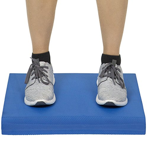 VIVE Balance Pad - Foam Large Yoga Mat Trainer for Physical Therapy, Stability Workout, Knee and Ankle Exercise, Strength Training, Rehab - Chair Cushion for Adults, Kids, and Travel (Blue)