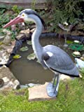 Blue Heron Decoy with Legs & Stake