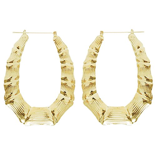 bamboo door knocker earrings - 3