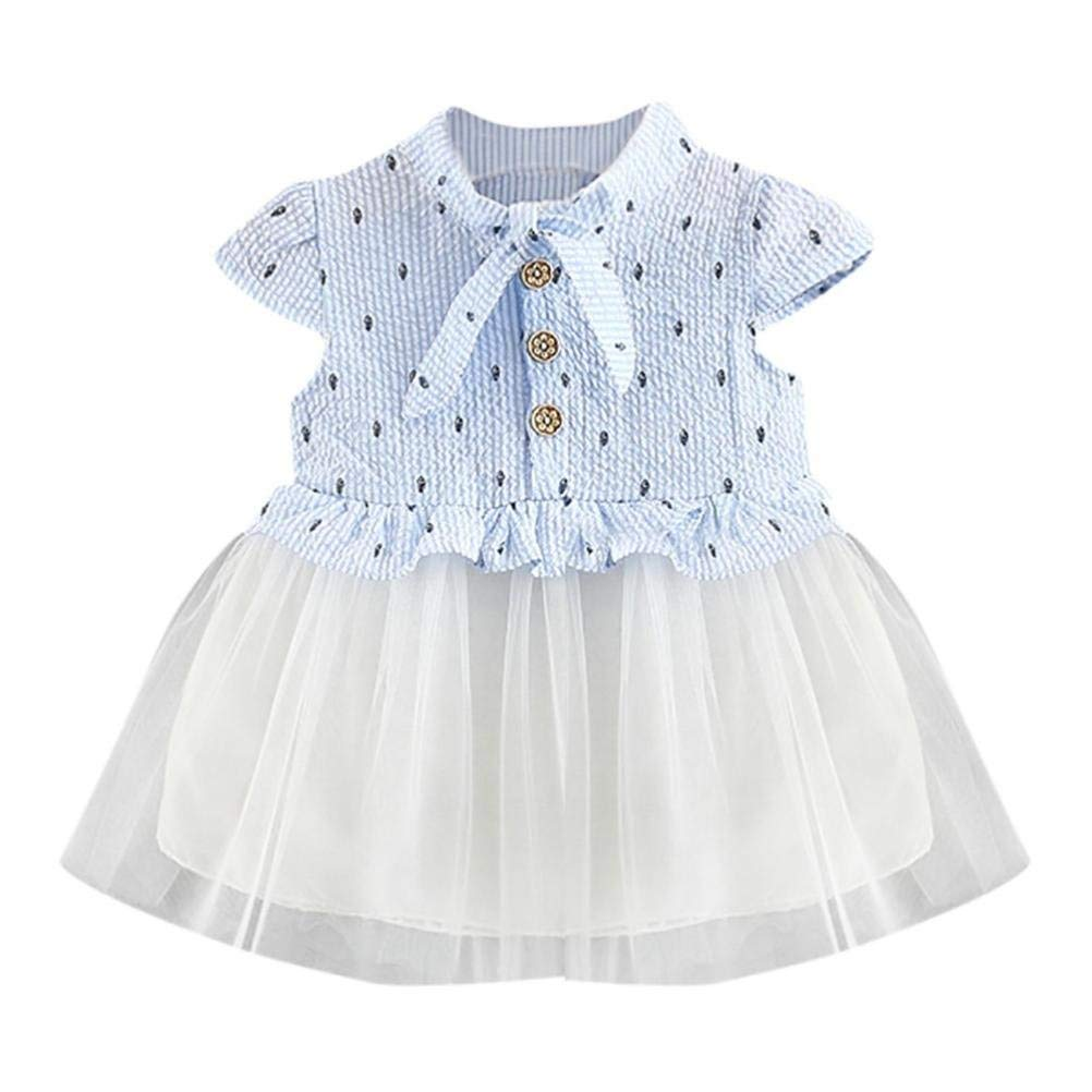 25458d8a978 Amazon.com  Goodtrade8 Infant Toddler Girl Summer-Dresses Ruffle Sleeveless  Princess Dress Tulle Tutu Skirt Swing Holiday Sundress  Shoes
