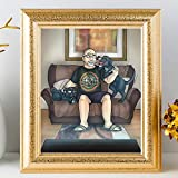 Custom Owner And Pet Portrait - Funny Cool Fathers Day Gifts For Dog Lovers - Amazing Sentimental Ideas To Surprise Dad