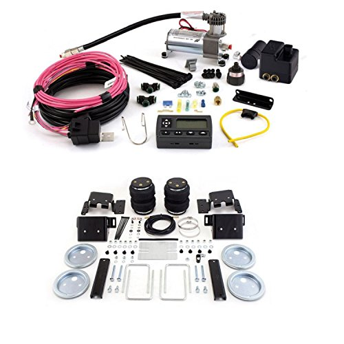 Air Lift 88338 72000 Rear Set of Load Lifter 5000 Ultimate Series Air Springs with Wireless AIR Dual Path On-Board Air Compressor System Bundle for Sierra Silverado