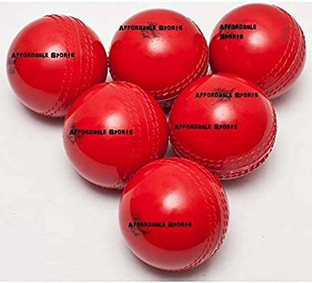 Bolas rojas de Cricket, pelota suave para interior: Amazon.es ...