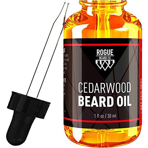 Beard Oil   Cedarwood By Rogue Beard Company 100  Organic Beard Oil And Leave In Conditioner
