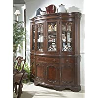 Heritage Mahogany Shaped Front China Cabinet