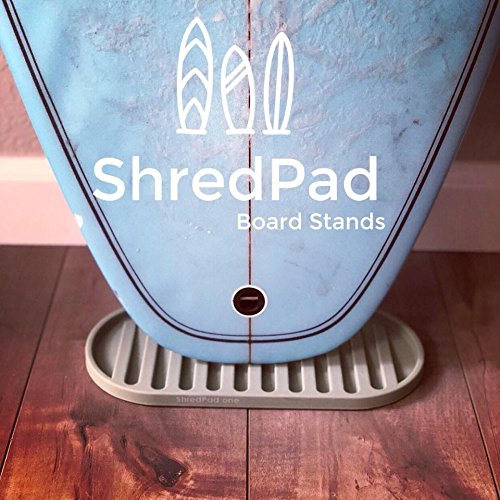 ShredPad Portable Board Display Stand | Vertical Wall Rack & Mat Indoor Storage System for Surfboard, Snowboard, Skateboard