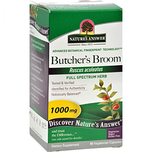 (Nature's Answer Butchers Broom Root, 90 Caps by Nature's)