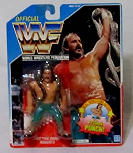 """Official WWF 1990 Hasbro Jake """"The Snake"""" Roberts Vintage Wrestling Figure with Python Punch!"""
