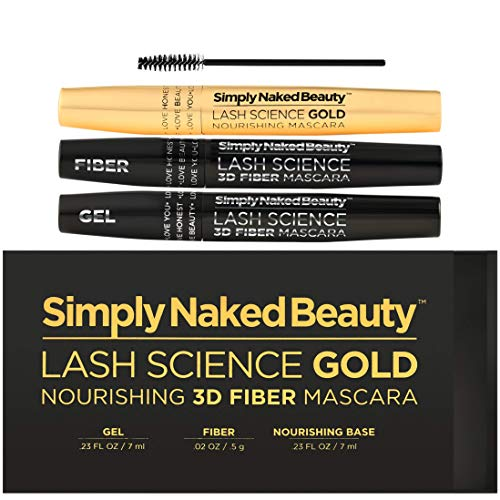 15c667fecf7 3D Fiber Lash Mascara with Eyelash Enhancing Serum in gold tube by Simply  Naked Beauty. Infused with Organic Castor Oil nourishes lashes, promotes  growth.