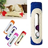 Vktech® Pet Cat Kitten Kitty Toy Rolling Sisal Scratching Post Trapped Ball Training