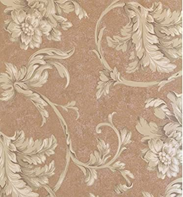 York Wallcoverings Floral Modern Prepasted Wallpaper Roll Size