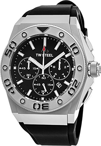 TW Steel CE5008 Watch CEO Diver Mens - Black Dial Stainless Steel Case Quartz Movement