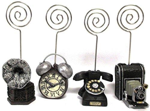 UnitedノベルティBingo Admissionヴィンテージチケットholders-のセット4- Phonograph、アラーム時計、電話、カメラ