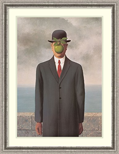 Framed Art Print 'The Son of Man' by Rene Magritte by Amanti Art