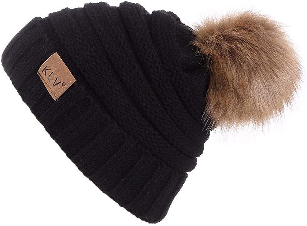Cute Animal Beanie Hat Winter Solid Warm Knit Unisex Ski Skull Cap