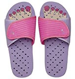Showaflops Girls' Antimicrobial Shower & Water Sandals for Pool, Beach, Camp and Gym - Pink Pedi Slide 13/1