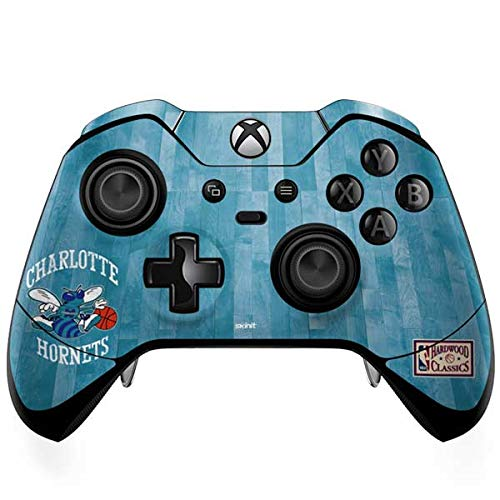 Skinit Charlotte Hornets Hardwood Classics Xbox One Elite Controller Skin - Officially Licensed NBA Gaming Decal - Ultra Thin, Lightweight Vinyl Decal Protection