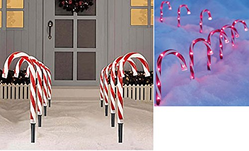Candy Cane Outdoor Lights Stakes - 9