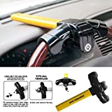 Universal Car Steering Wheel Lock, Anti Theft Device, Security Protection Safety Tool - 2 Keys, T Shape, Steel