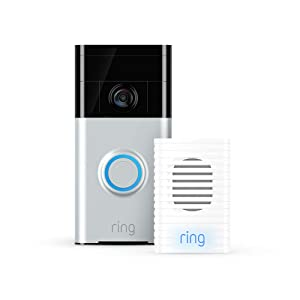 Ring Video Doorbell (Satin Nickel) with Ring Chime