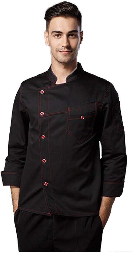 Chaqueta Chef para Unisex Manga Larga Primavera Camisa de Cocinero Restaurante Occidental Cocina Hotel Mono,L: Amazon.es: Deportes y aire libre