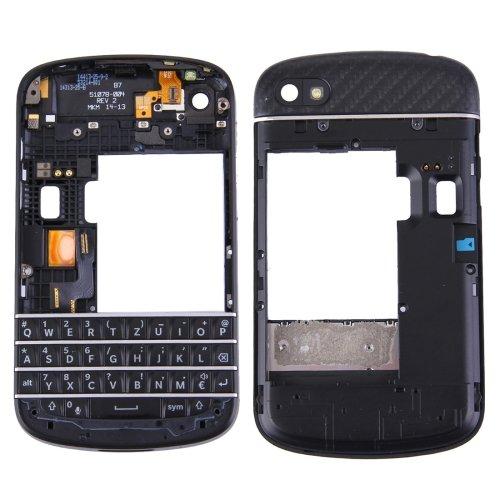 3 in 1 for BlackBerry Q10 (Keyboard + Middle Frame Bezel + Back Plate Housing Camera Lens Panel) Full Assembly Housing Cover ()