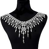 WIIPU Luxury Wedding Rhinestone Shoulder Chain Collar Necklace Jewelry(B617)