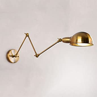 Dmce Wall Lamps Vintage,Swing Arm Wall Lamp Adjustable Wall Sconces Plug In  Sconces