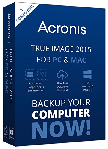 Acronis True Image 2015 for PC and Mac (5-User)