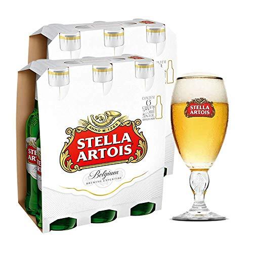 Kit Stella Artois 2 Packs (12 Unidades) + Cálice Stella Artois 250ml