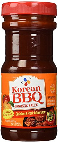 (Hot&Spicy) CJ Korean BBQ Original Sauce Chicken & Pork Marinade 29.6 Ounce