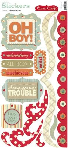 (Cosmo Cricket OH BOY Cardstock Stickers)