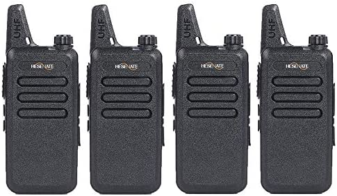 HESENATE HT-U222 Long Range Uhf 400-470Mhz 70cm 16-Channel Portable FRS GMRS Two-Way Radio Vox Rechargeable 1500mAh Li-Ion Battery Walkie Talkies Pack of 4