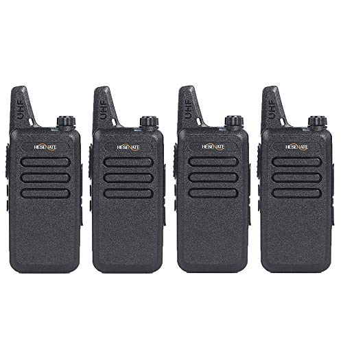 HESENATE HT-U222 Long Range 3-Watt Uhf 400-470Mhz 70cm 16-Channel Portable FRS GMRS Two-Way Radio Vox Rechargeable 1500mAh Li-Ion Battery Walkie Talkies Pack of 4