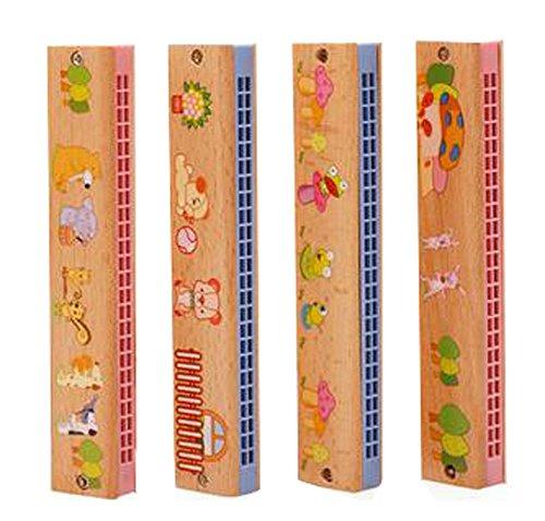 24 Trous d'apprentissage Toy Harmonica Educational Music Toy couleur aléatoire