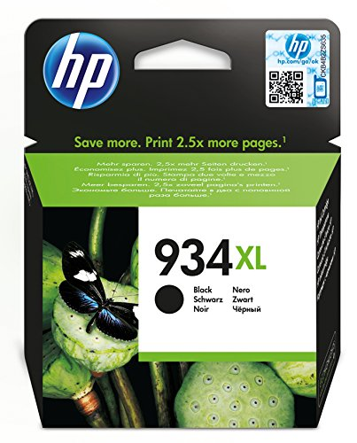 HP 934XL - Black - original - ink cartridge - for Officejet 6812, 6815, Officejet Pro 6230, 6830, 6835