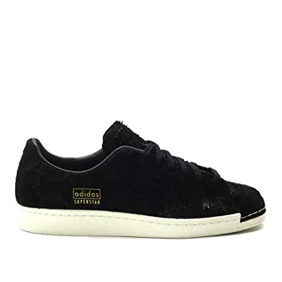 180bb6950585e Amazon.com | adidas Superstar 80's Clean Mens in Black/Black, 12 ...