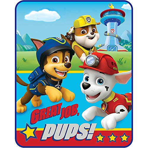Paw Patrol Throw Blanket Style, Red & Blue ()