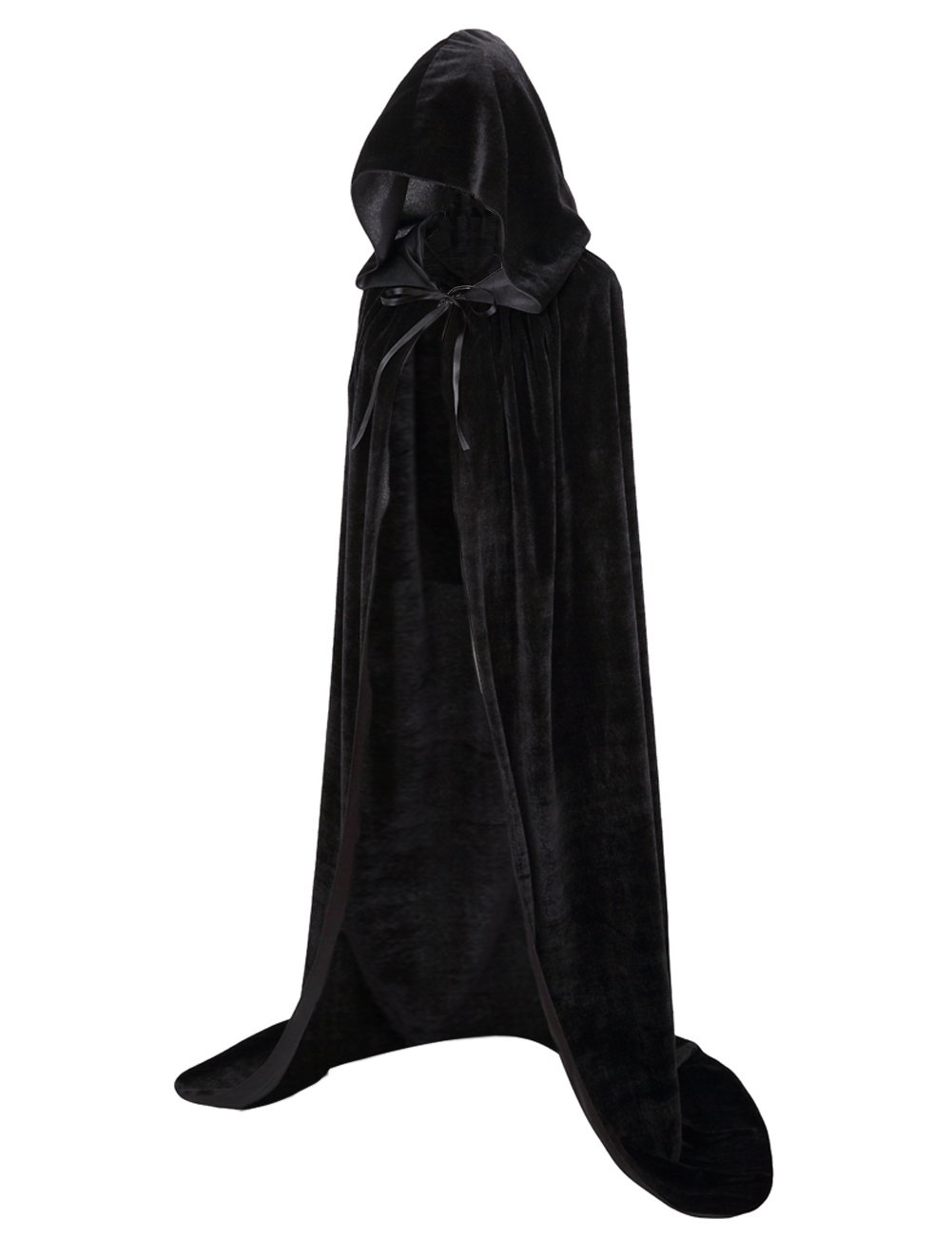 Colorful House Unisex Full Length Velvet Hooded Cape Halloween Christmas Cloak