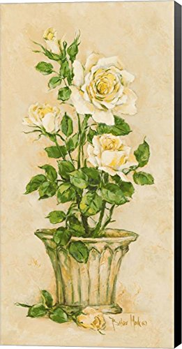 Shades of Rose I by Barbara Mock Canvas Art Wall Picture, Museum Wrapped with Black Sides, 7 x 14 inches