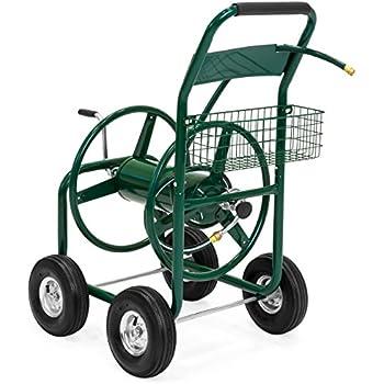 Ironton Hose Reel Cart Holds 300ft X 5 8in Hose Garden Outdoor